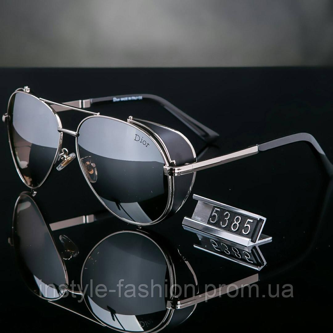 Женские брендовые очки копия Диор капли черные