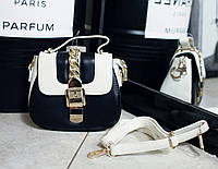 Жіночий клатч, сумка на плече, колір чорний,0578