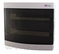 Щит внутр. распределительный ECМ 2x18PT (36мод.прозр.дверь)