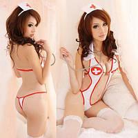 Cексуальный костюм медсестры, эротическое сексуальное белье