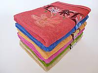 Махровое лицевое полотенце 100х50см (пальма)