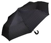 Мужской зонт Три Слона Ручка крюк кожа , купол 116 см (полный автомат), арт.501-26