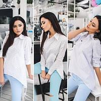 Модная женская рубашка а-симметрия принт / Украина / хлопок