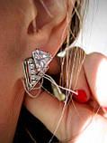 Серебряные серьги Оракул с цирконием, фото 3