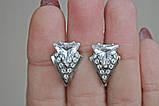 Серебряные серьги Оракул с цирконием, фото 4