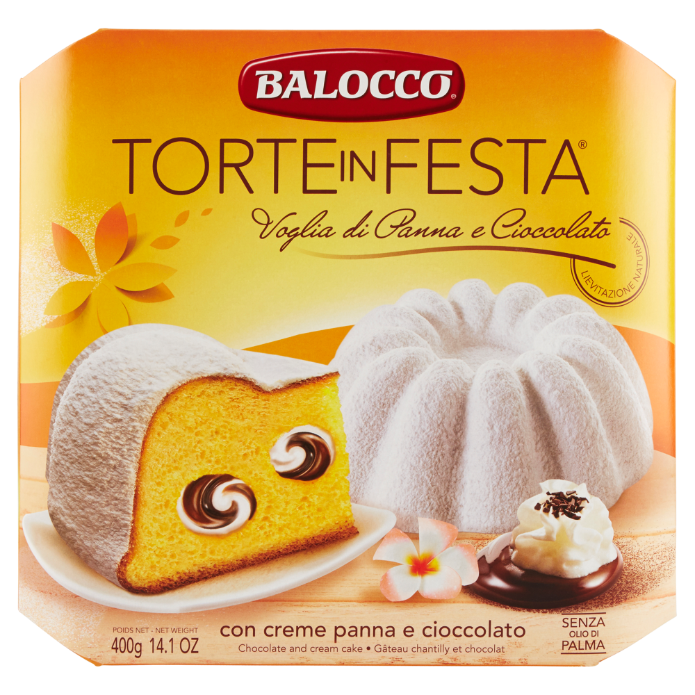 Пасхальный тортик Balocco Torte in Festa с шоколадом и сливками, 400 г.