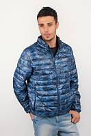 Куртка мужская дутая, осень 2016 №225KF047 (Милитари синий)