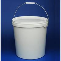 Ведро пищевое белое п/э.   5 литров.