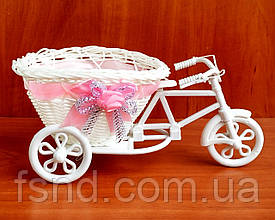Декоративный велосипед для цветов (001-розовый) 10.5 х 23 см