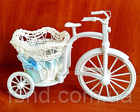 Декоративный велосипед для цветов (083-голубой) 18 х 25 см