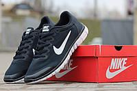 Кроссовки Nike Free 3.0 (синие с белым) летние кроссовки найк nike
