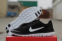 Кроссовки Nike Free 3.0 (черные с белым) летние кроссовки найк nike