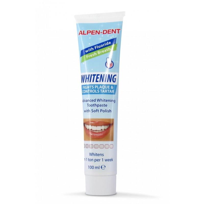 Альпен Дент Паста зубная отбеливающая против зубного налета и камня, 100 мл