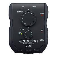 Zoom U22 аудиоинтерфейс, 2 входа 2 выхода
