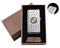 USB + газовая зажигалка в подарочной упаковке (спираль накаливания, острое пламя) BMW №4819-5