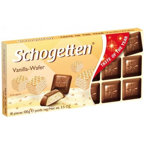 Шоколад Schogetten Vanilla-Wafer (Шогеттен), 100 гр