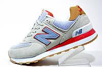 Женские Кроссовки New Balance 574 Classic, Gray\Red\ Turquoise