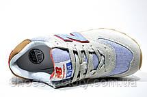 Женские Кроссовки New Balance 574 Classic, Gray\Red\ Turquoise, фото 2