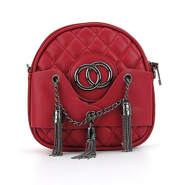 Клатч-сумочка малая женская кожзам красная 555-2
