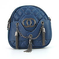 Клатч-сумочка малая женская кожзам синяя 555-3, фото 1