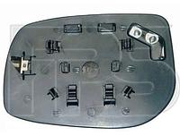 Вкладыш зеркала прав. без обогр. выпукл. квадратный крепеж Toyota Yaris 2006-11