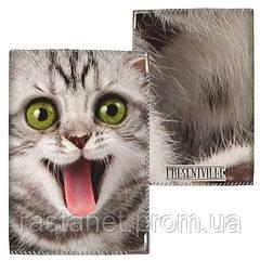 """Тканевая обложка на паспорт  """"Котенок"""""""