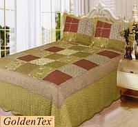 Покрывало хлопковое печворк GoldenTex JY-7252 230х250см