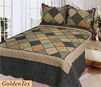 Покрывало хлопковое печворк GoldenTex JY-7251 230х250см