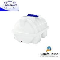Пластиковая емкость 1500 л горизонтальная, однослойная Euro Plast RG 1500 Р/ребро