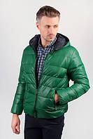 Куртка мужская теплая на синтепоне, с капюшоном №249KF001 (Зеленый)