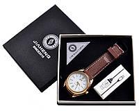 USB зажигалка + часы в подарочной упаковке (Спираль накаливания; кварц) №4829-3