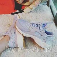 Кроссовки женские Nike Air Huarache Baby Blue Кроссовки, Анатомическая, Шнуровка, Комбинированный, Без подкладки, ЭВА, Женский, Nike, 38, Вьетнам, Закругленный
