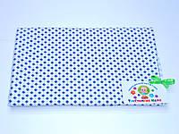 Фланелевые (байковые) пеленки (белая с рисунком) 75/120