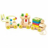 Деревянная игрушка МДИ паровозик Чух-чух №2 (Д420)