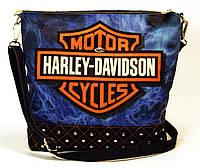 Джинсовая стеганная сумочка HARLEY 6, фото 1