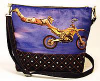 Джинсовая стеганная сумочка Фристайл, фото 1