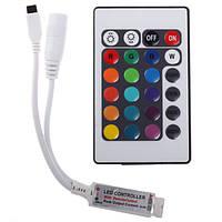 Светодиодная лента (в силиконе) RGB 3528 5 метров+пульт+контроллер+блок питания, LED лента многоцветная, В наличии