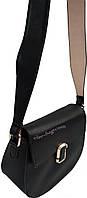 Женская сумка через плечо с широким ремнем