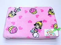 Детский флисовый плед ( розовый для девочки)