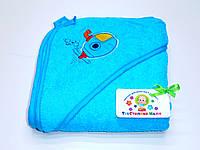 Махровый уголок для купания (голубой)