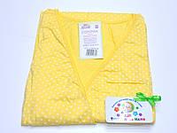 Ночная рубашка для родов и кормления 48 размер (желтый)