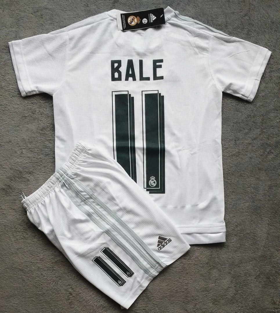 6762eb1a2b28 Детская футбольная форма Реал Мадрид Bale белая сезон 15-16 - Спортивный  магазин Kosas в
