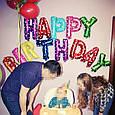 """Фольгированные буквы Микс в сердечко с надписью""""HAPPY BIRTHDAY"""" ., фото 4"""