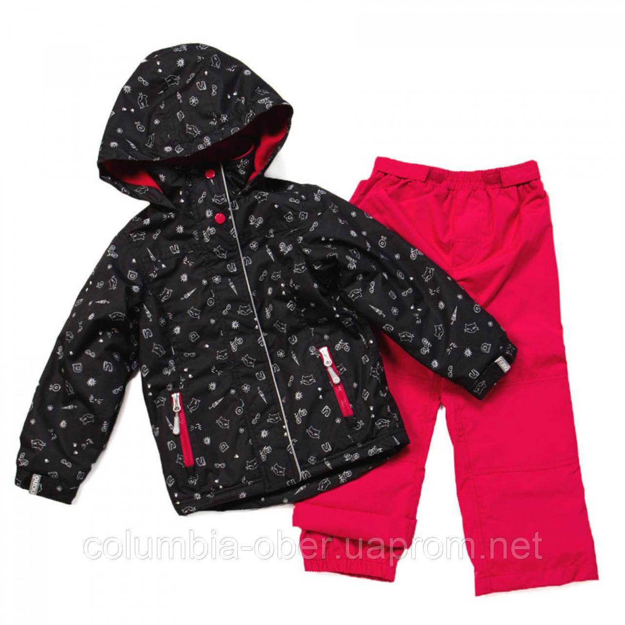 Демисезонный костюм для девочек Nano 262 M S17 Black / Scarlet. Размер 74 - 132.