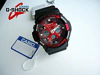 Casio G-Shock GA-200 (красные),  реплика (копия),мужские, спортивные, водонепроницаемые