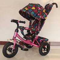 """Велосипед TILLY Trike  """"Кошки"""" надувные колеса, розовый"""