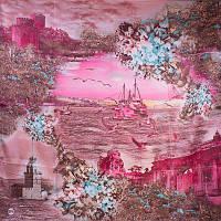 Женский атласный платок 92 на 92 EYFEL (ЭЙФЕЛЬ) SAT15211