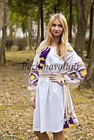 Платье с вышивкой 24-033