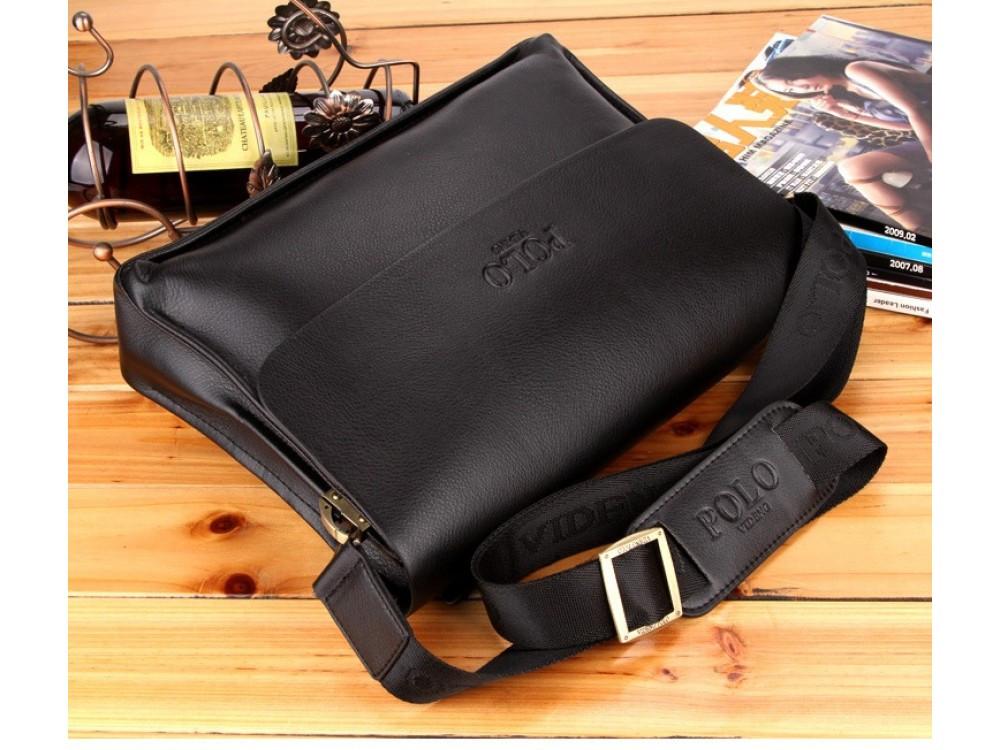 f9a63552cb78 Качественная и стильная мужская сумка-портфель Polo Videng. Удобная в  использовании сумка. Код