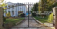 Ворота кованые (без калитки 7000)